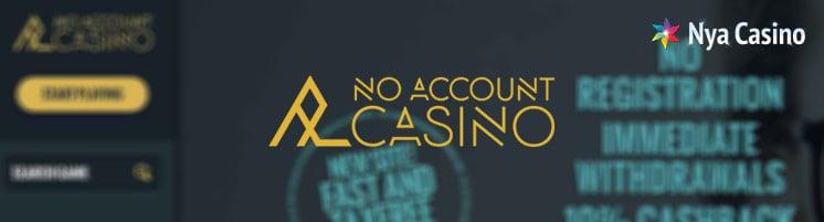 noaccount casino utan konto