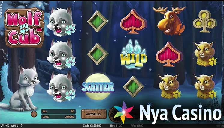wolf cub free spins spelautomat netent